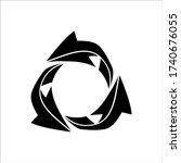 black recycling logo vector...   Shutterstock .eps vector #1740676055