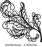 a black and white leaves floral ... | Shutterstock . vector #17406766