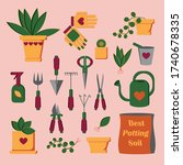 everything you need to plant...   Shutterstock .eps vector #1740678335