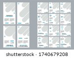 medical social media post and... | Shutterstock .eps vector #1740679208