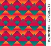 abstract hill vector seamless... | Shutterstock .eps vector #1740681758
