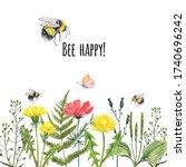 Watercolor Wildflower Summer...