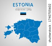detailed map of estonia with...   Shutterstock .eps vector #1740705602