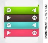 modern business origami style... | Shutterstock .eps vector #174071432