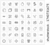 mobile ui line icon set of 49...