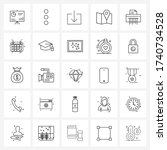 isolated symbols set of 25...
