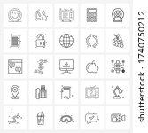 mobile ui line icon set of 25...