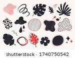 set of abstract doodles and... | Shutterstock .eps vector #1740750542