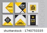 editable modern minimal square... | Shutterstock .eps vector #1740753335