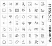 ui set of 49 basic line icons...