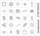 ui set of 25 basic line icons...