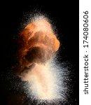 thermite explosion.