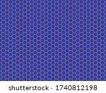 seamless vector pattern of blue ... | Shutterstock .eps vector #1740812198