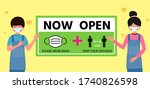 restart business concept now... | Shutterstock .eps vector #1740826598