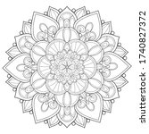 adult coloring book page a zen...   Shutterstock .eps vector #1740827372