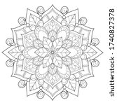 adult coloring book page a zen...   Shutterstock .eps vector #1740827378