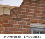 Cracked Brick Foundation  House ...