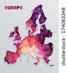 europe map | Shutterstock .eps vector #174083348