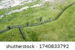 Military Trench Line Aerial...