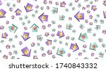 endless seamless pattern of... | Shutterstock .eps vector #1740843332