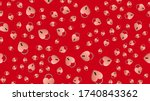 endless seamless pattern of... | Shutterstock .eps vector #1740843362