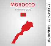 detailed map of morocco with...   Shutterstock .eps vector #1740845528