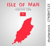 detailed map of isle of man...   Shutterstock .eps vector #1740847115