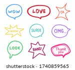 simple speech bubble. colored... | Shutterstock .eps vector #1740859565