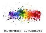 Rainbow Watercolor Splash...