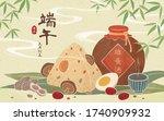 dragon boat festival realgar...   Shutterstock .eps vector #1740909932