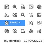 search vector line icons.... | Shutterstock .eps vector #1740923228
