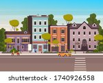 small city town street concept. ... | Shutterstock .eps vector #1740926558