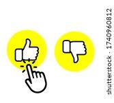 icons like and dislike modern... | Shutterstock .eps vector #1740960812