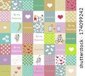 valentine s day background   Shutterstock . vector #174099242