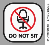 please do not sit here to... | Shutterstock .eps vector #1741018238