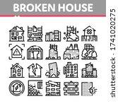 broken house building... | Shutterstock .eps vector #1741020275