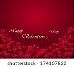 illustration of hearts for a... | Shutterstock . vector #174107822