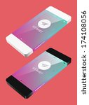 vector template phone in flat... | Shutterstock .eps vector #174108056