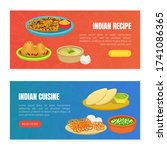 indian cuisine and recipes... | Shutterstock .eps vector #1741086365