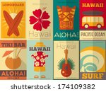 Hawaii Surf Retro Posters...