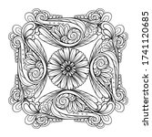 vector abstract black and white ...   Shutterstock .eps vector #1741120685