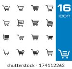 vector black shopping cart... | Shutterstock .eps vector #174112262