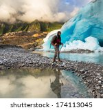 hike in norway mountains... | Shutterstock . vector #174113045