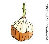 Cute Onion Vector Illustration...