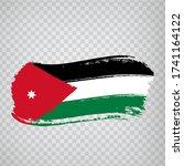 flag jordan from brush strokes. ...