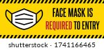 no face mask no entry sign.... | Shutterstock .eps vector #1741166465