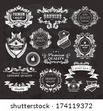 vintage styled premium quality... | Shutterstock . vector #174119372