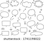 this is set of handwriting...   Shutterstock .eps vector #1741198022
