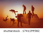 concept of the cycle and and...   Shutterstock .eps vector #1741199582