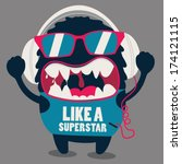 monster graphic | Shutterstock .eps vector #174121115